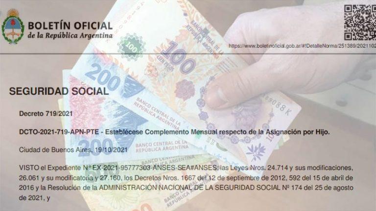 El Gobierno estableció un bono para las asignaciones familiares